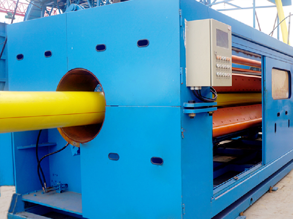 SPV INNER LAYER PIPE EXTRUSION AND OUTER SHEATHING EXTRUSION LINE